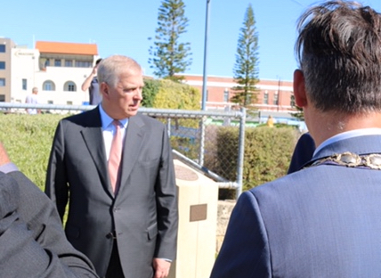 HRH The Duke of York launches a Walkway in Fremantle, Western Australia